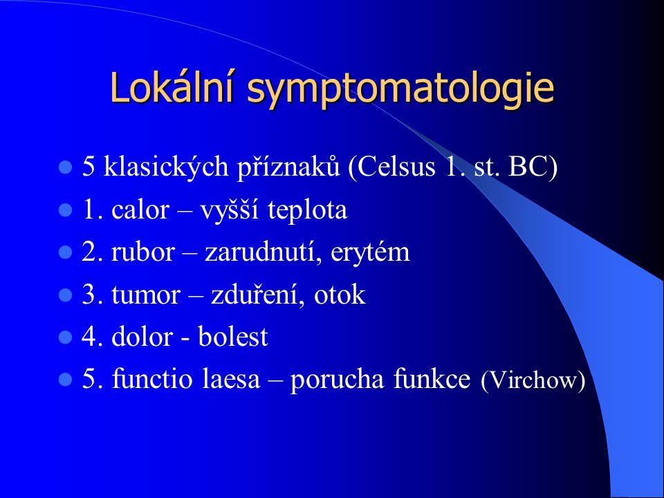 Lokální symptomatologie