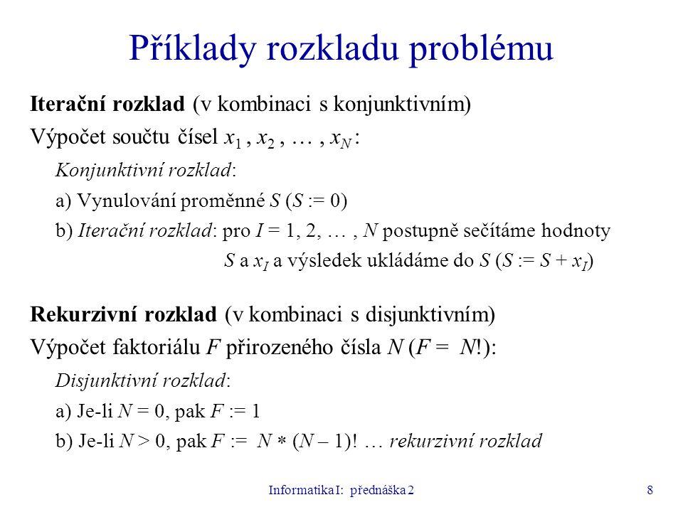 Příklady rozkladu problému