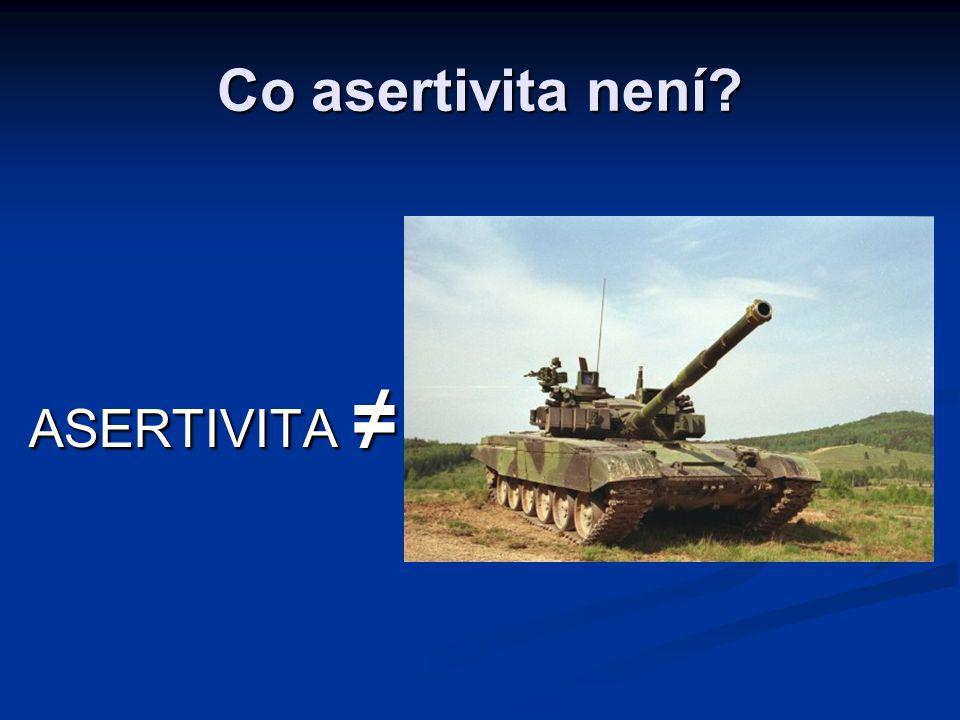 Co asertivita není ASERTIVITA ≠
