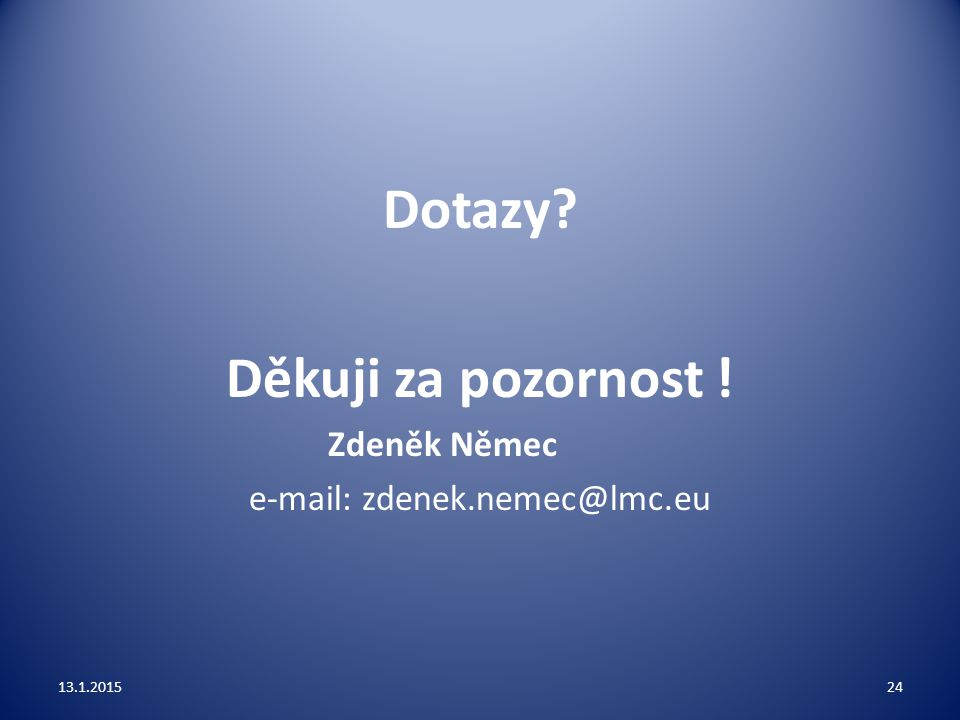 e-mail: zdenek.nemec@lmc.eu