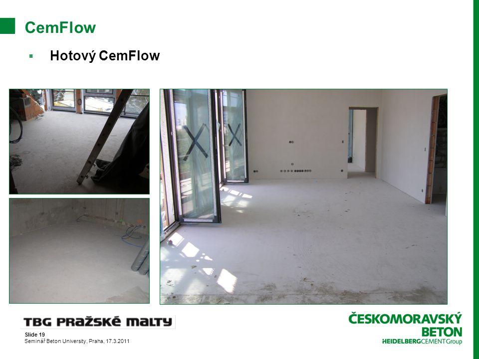 CemFlow Hotový CemFlow Slide 19