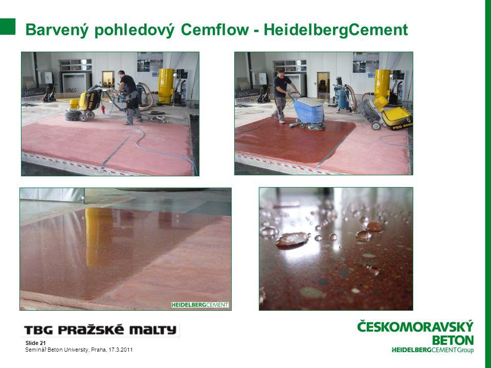 Barvený pohledový Cemflow - HeidelbergCement