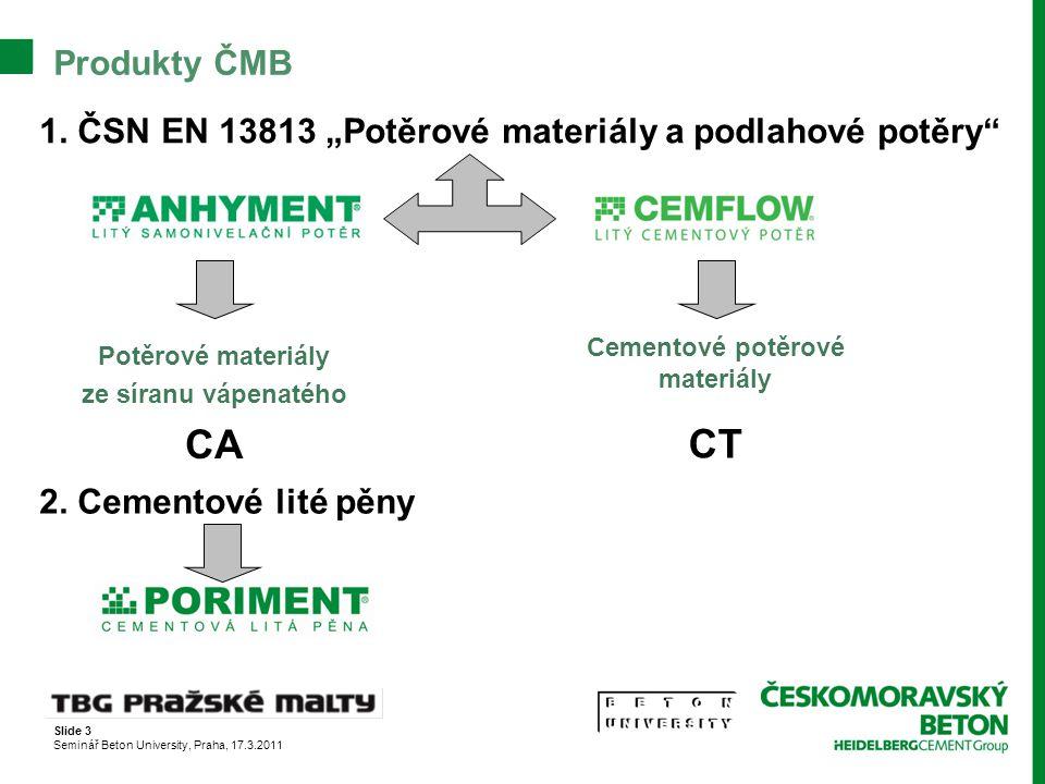 Cementové potěrové materiály