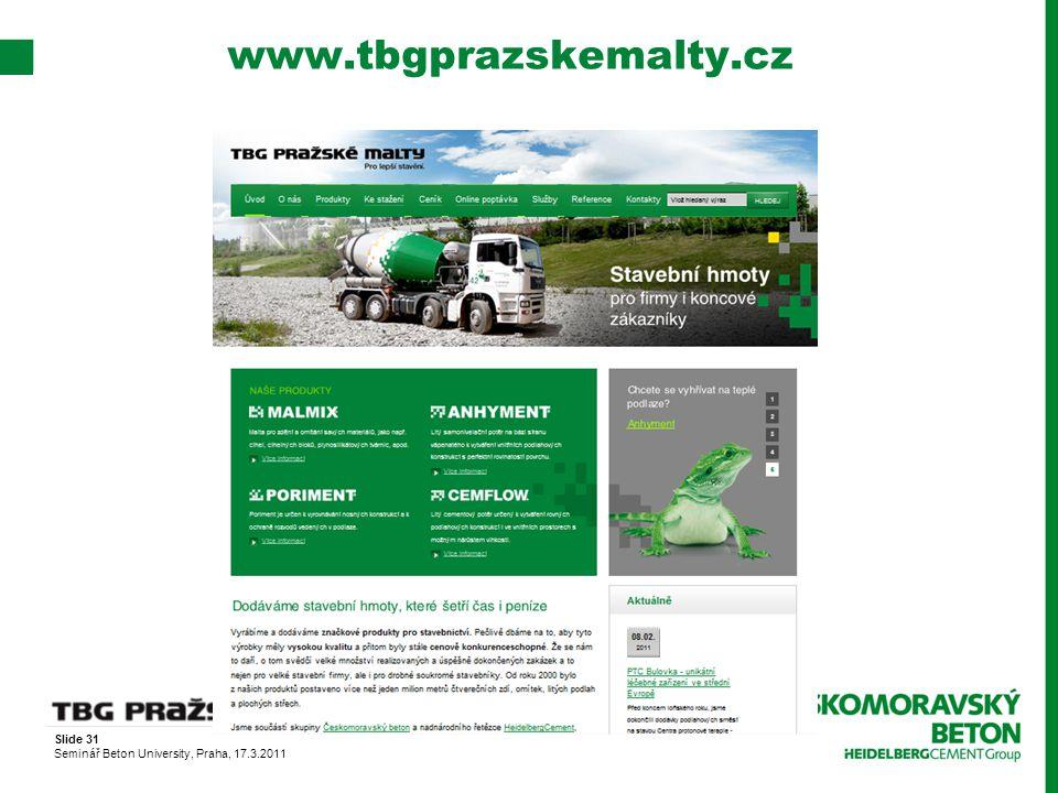 www.tbgprazskemalty.cz Slide 31
