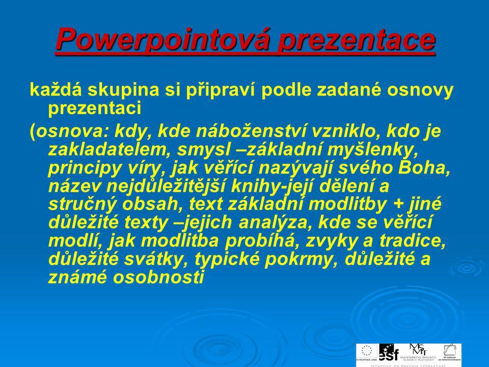 Powerpointová prezentace