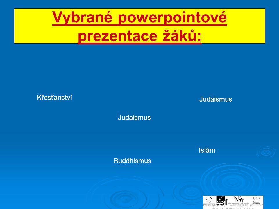 Vybrané powerpointové prezentace žáků: