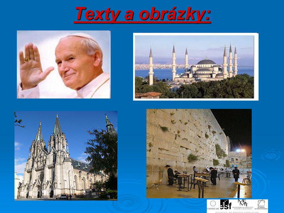 Texty a obrázky: