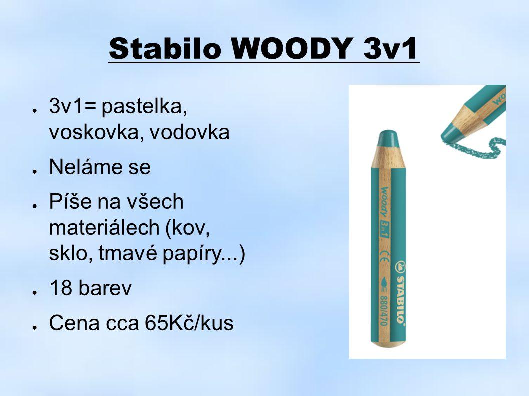 Stabilo WOODY 3v1 3v1= pastelka, voskovka, vodovka Neláme se
