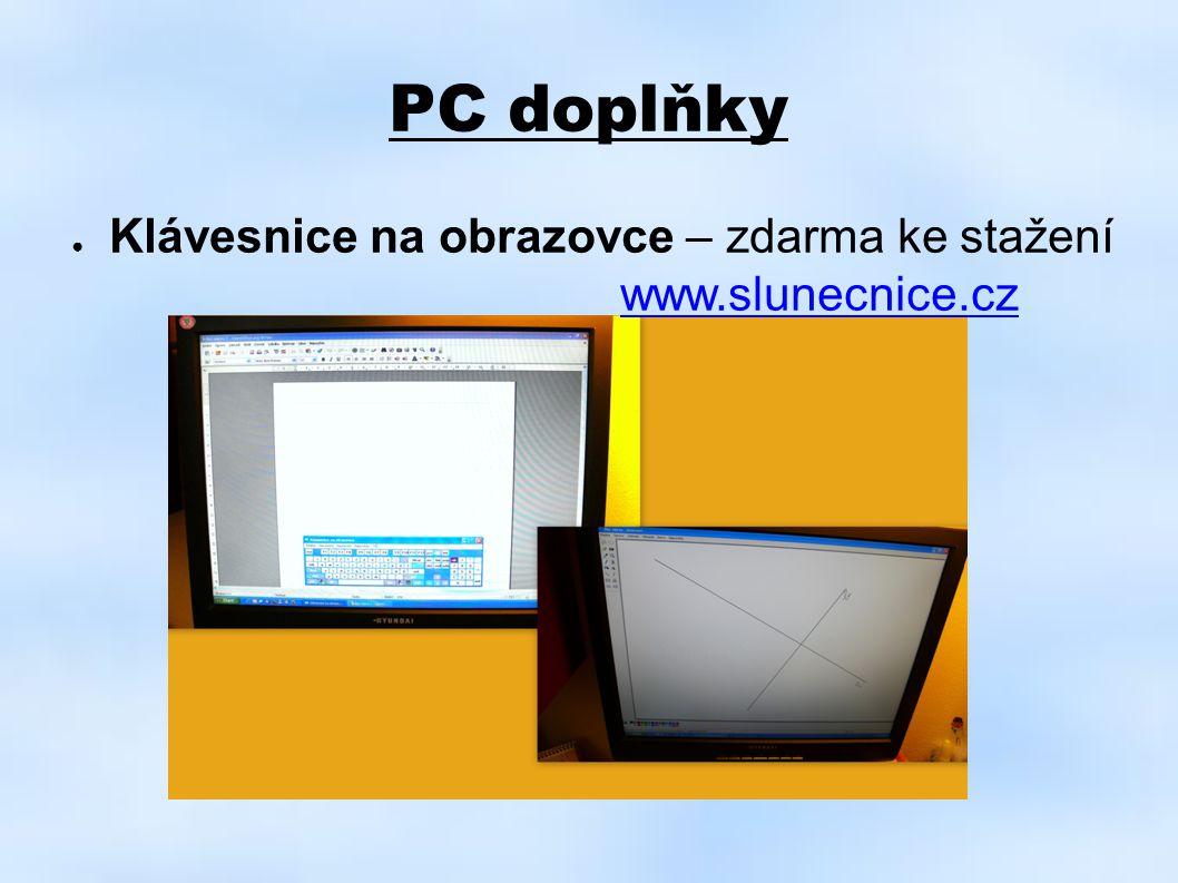 PC doplňky Klávesnice na obrazovce – zdarma ke stažení www.slunecnice.cz