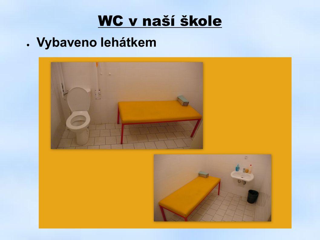 WC v naší škole Vybaveno lehátkem