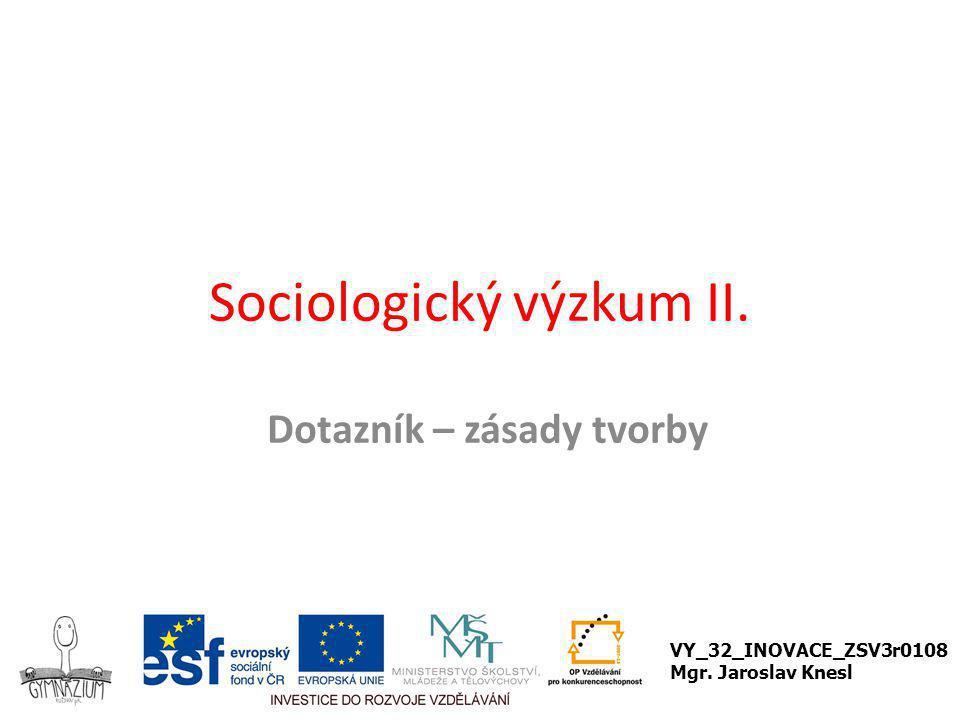 Sociologický výzkum II.