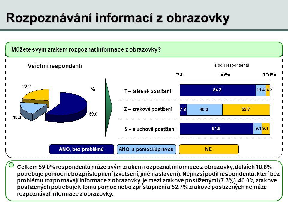 Rozpoznávání informací z obrazovky