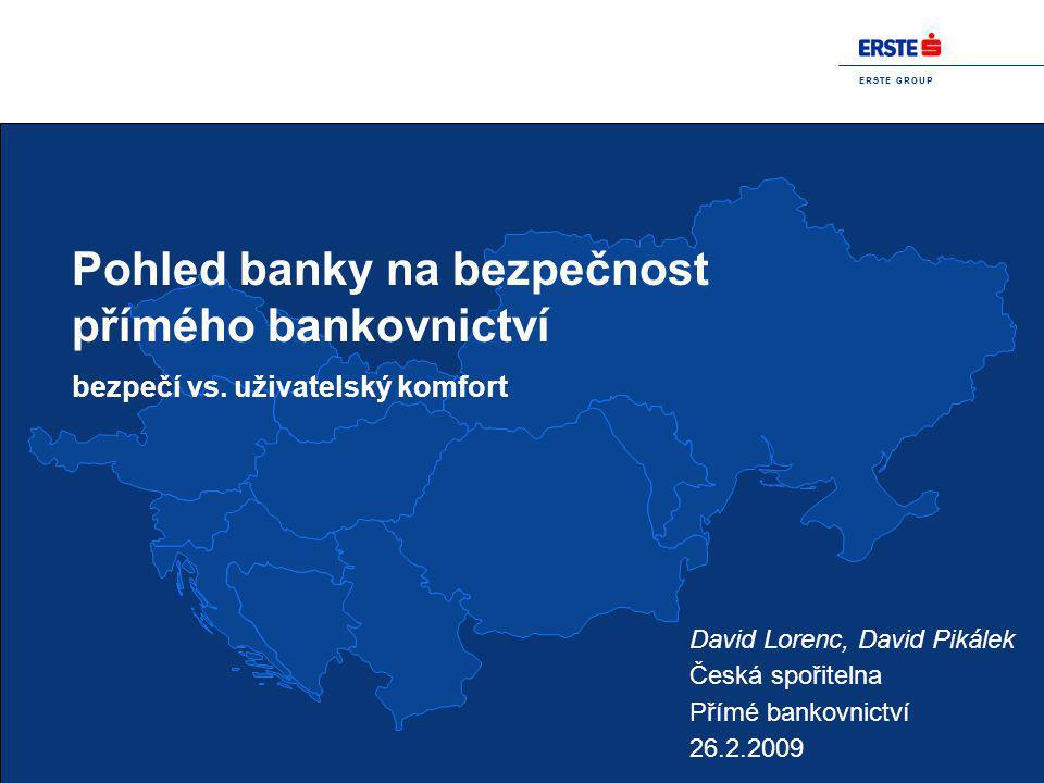 Pohled banky na bezpečnost přímého bankovnictví
