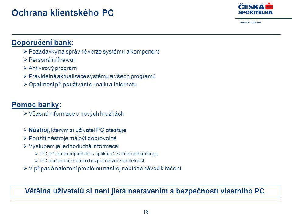Ochrana klientského PC