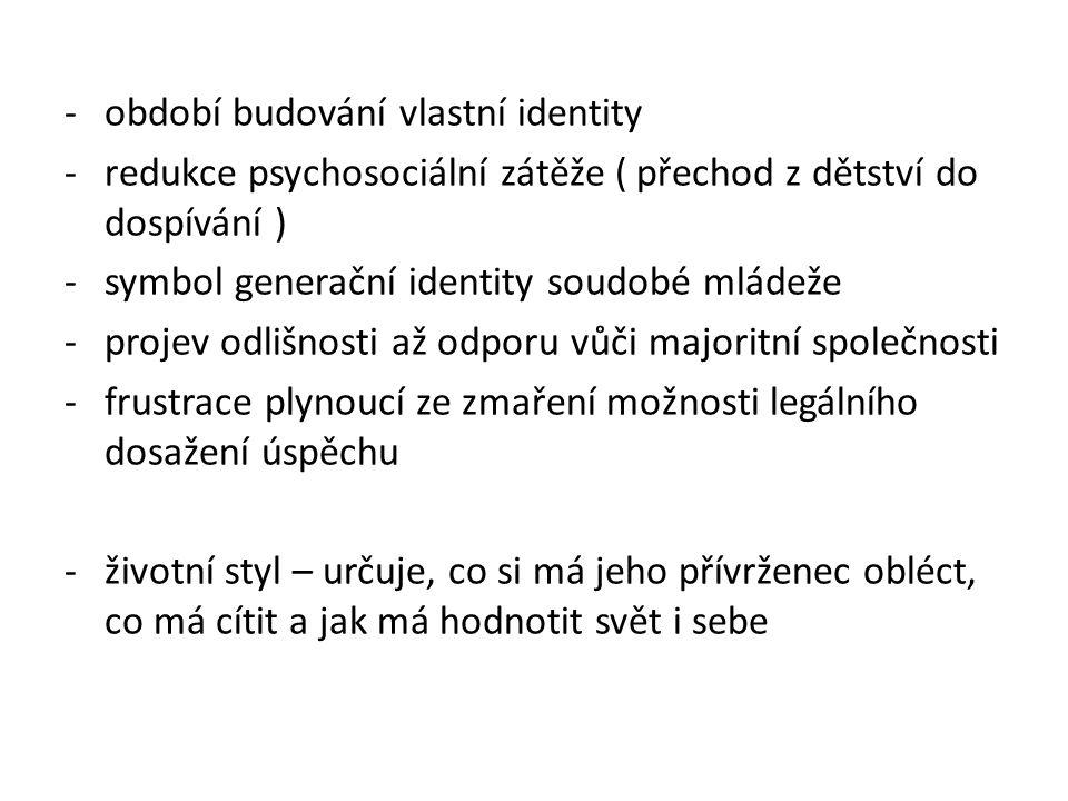 období budování vlastní identity