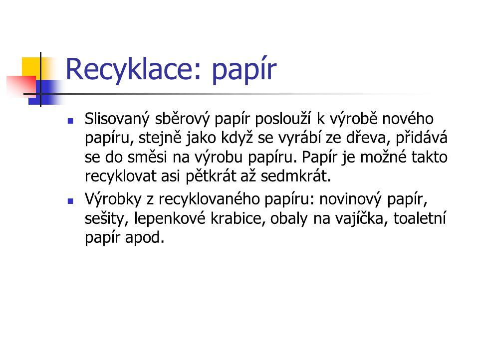 Recyklace: papír
