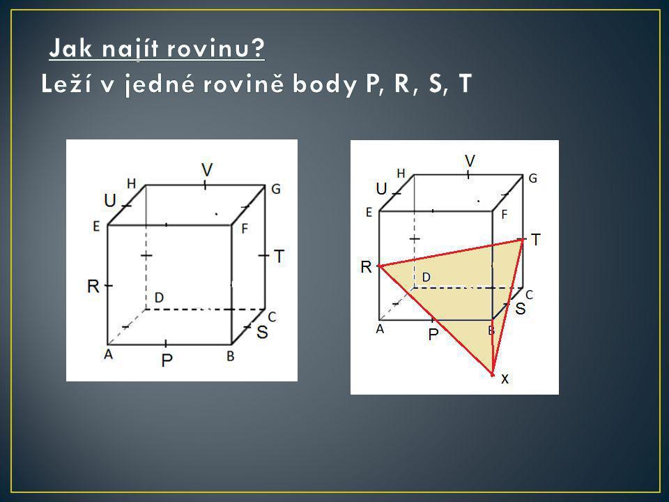Jak najít rovinu Leží v jedné rovině body P, R, S, T