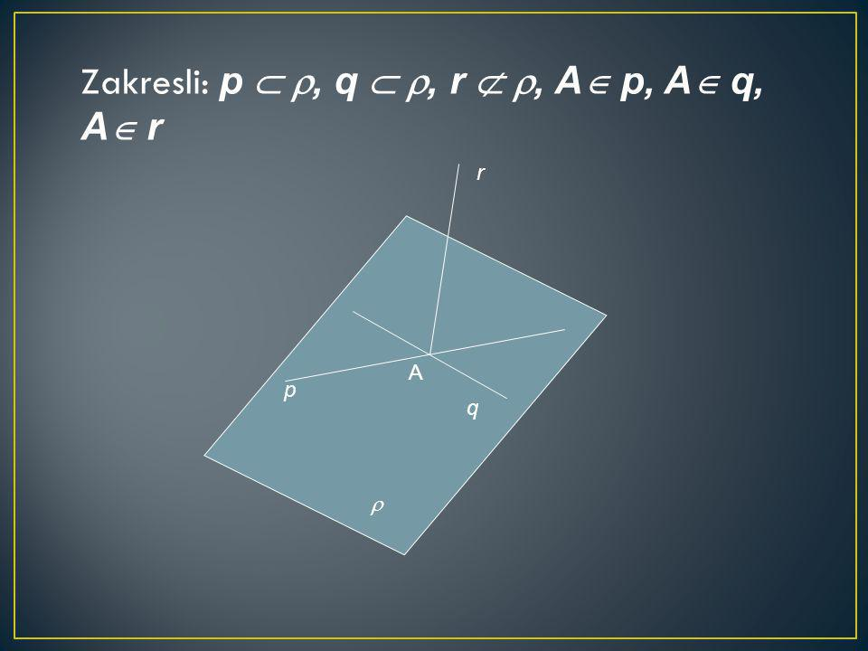 Zakresli: p  , q  , r  , A p, A q, A r