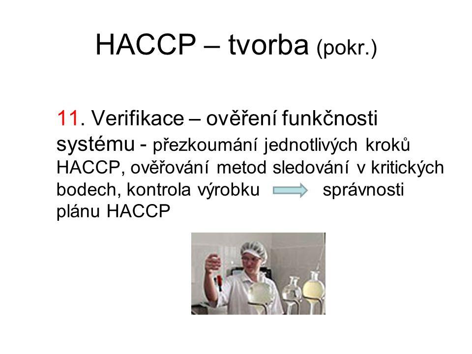 HACCP – tvorba (pokr.)