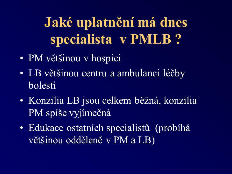 Jaké uplatnění má dnes specialista v PMLB