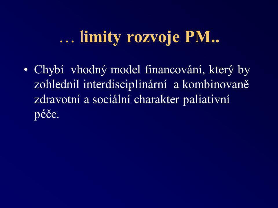 … limity rozvoje PM..