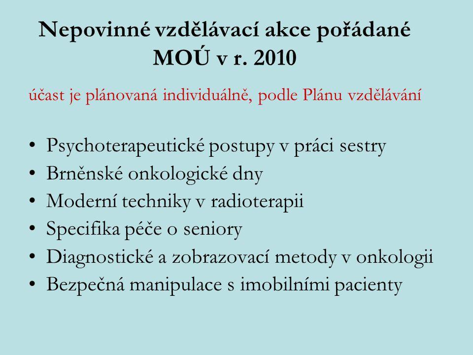 Nepovinné vzdělávací akce pořádané MOÚ v r. 2010