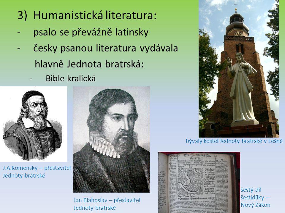 Humanistická literatura: