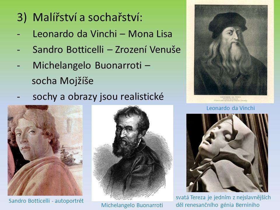 Malířství a sochařství: