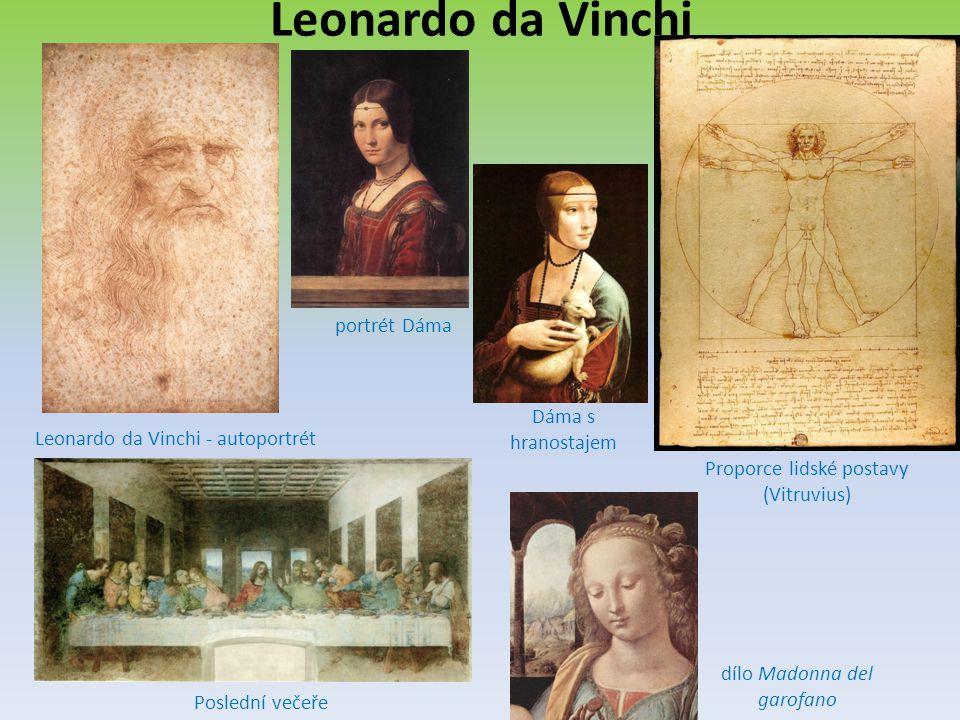 Leonardo da Vinchi portrét Dáma Dáma s hranostajem
