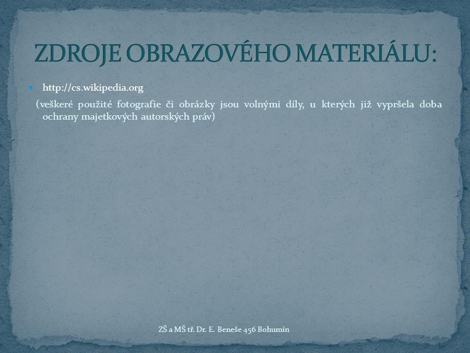 ZDROJE OBRAZOVÉHO MATERIÁLU: