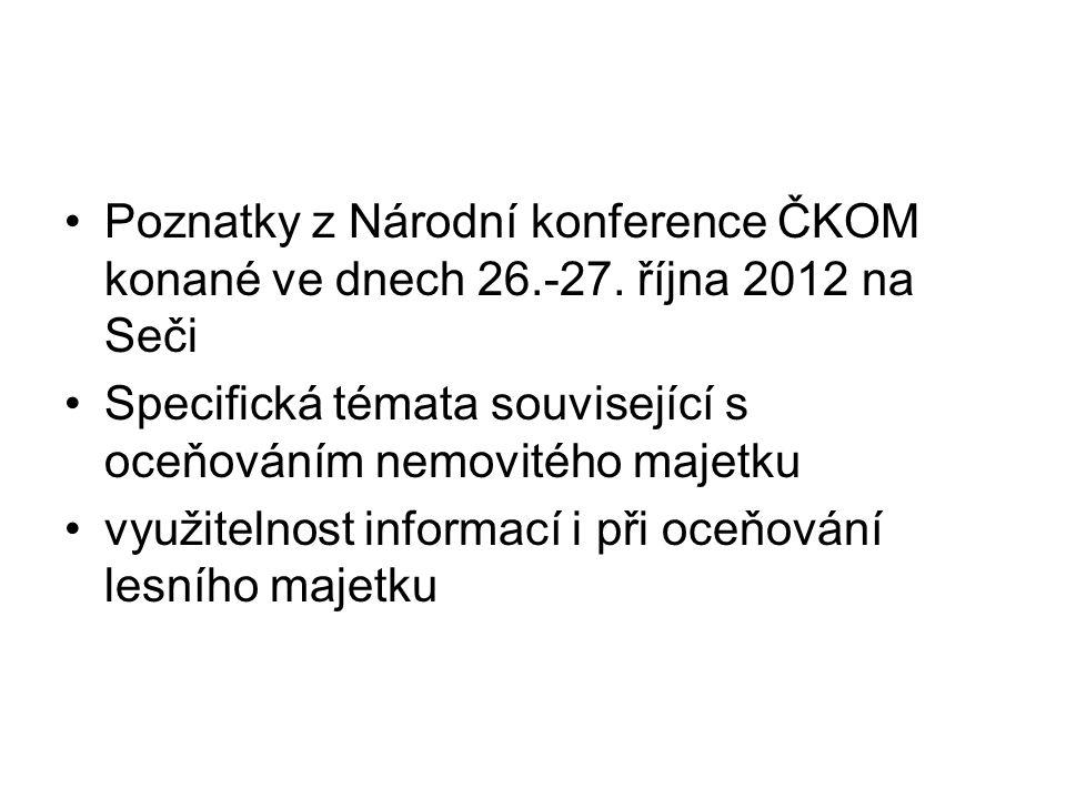 Poznatky z Národní konference ČKOM konané ve dnech 26. -27