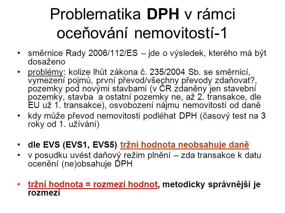 Problematika DPH v rámci oceňování nemovitostí-1