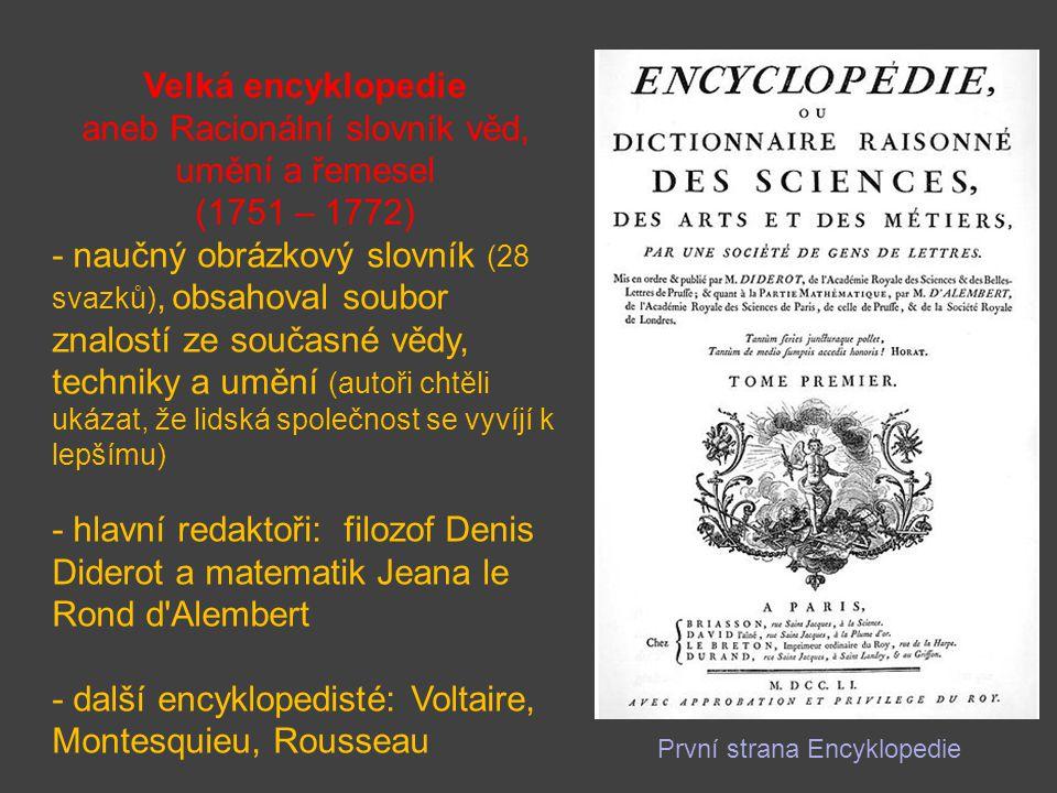 aneb Racionální slovník věd, umění a řemesel (1751 – 1772)