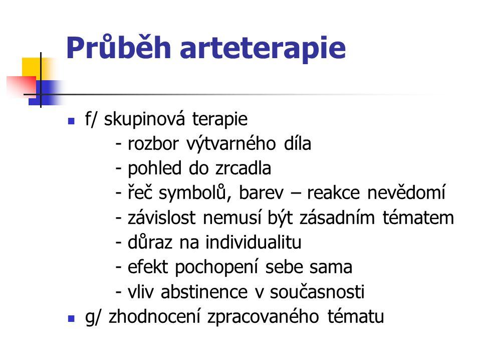 Průběh arteterapie f/ skupinová terapie - rozbor výtvarného díla