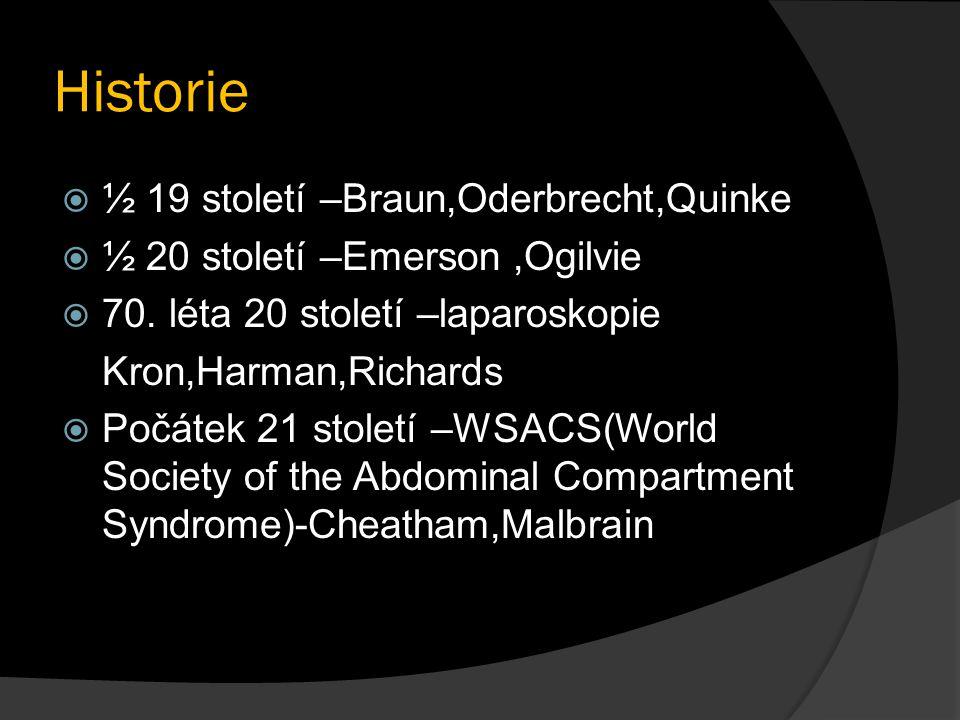 Historie ½ 19 století –Braun,Oderbrecht,Quinke