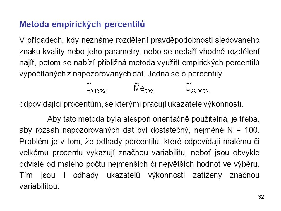 Metoda empirických percentilů