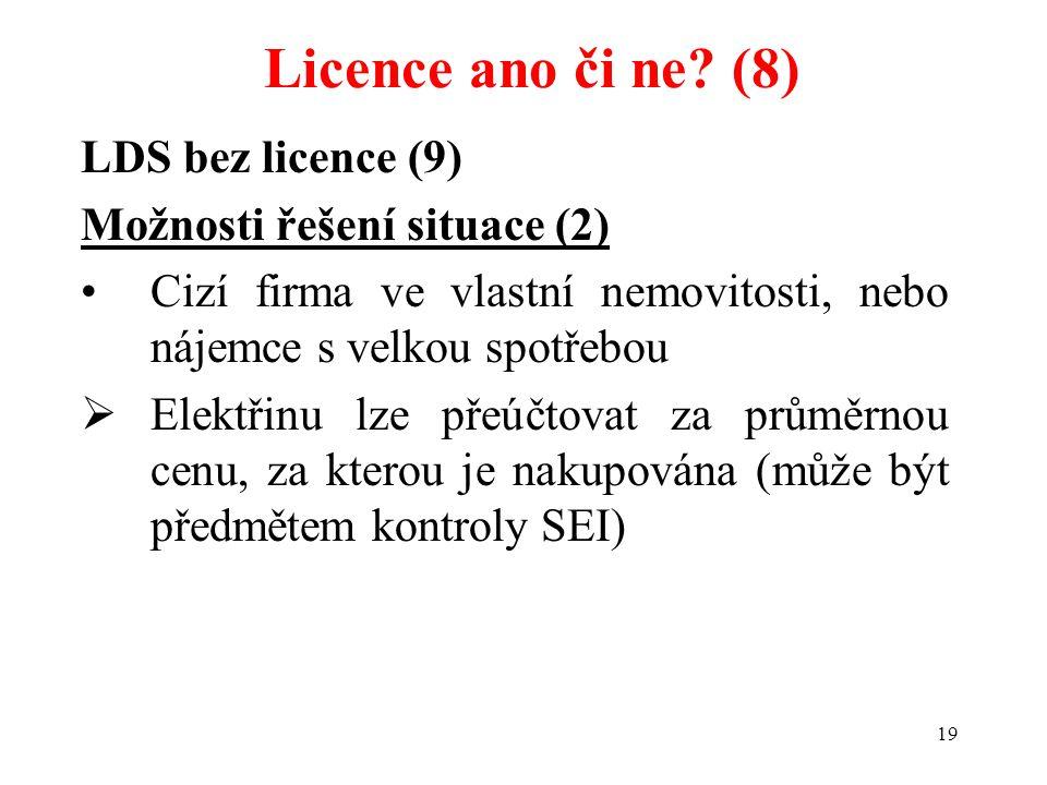 Licence ano či ne (8) LDS bez licence (9) Možnosti řešení situace (2)