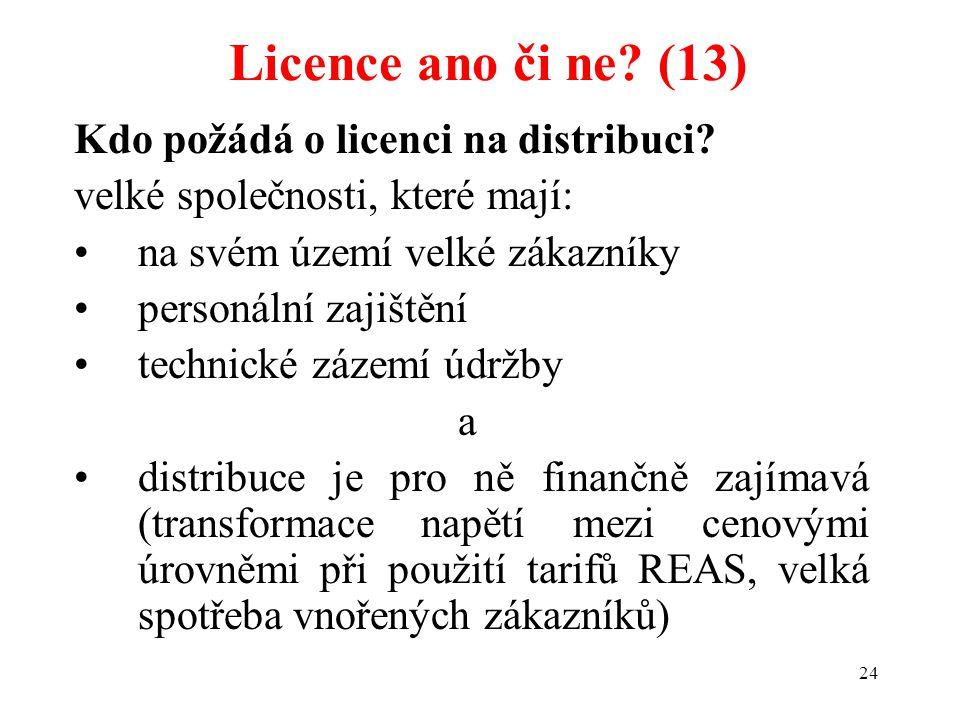 Licence ano či ne (13) Kdo požádá o licenci na distribuci