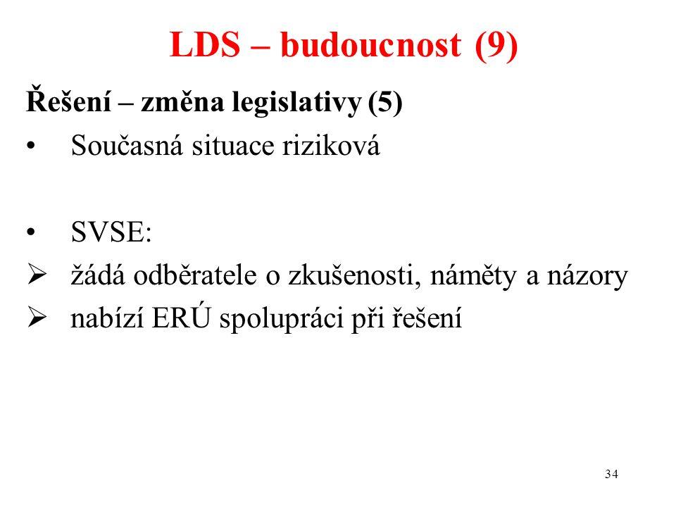 LDS – budoucnost (9) Řešení – změna legislativy (5)