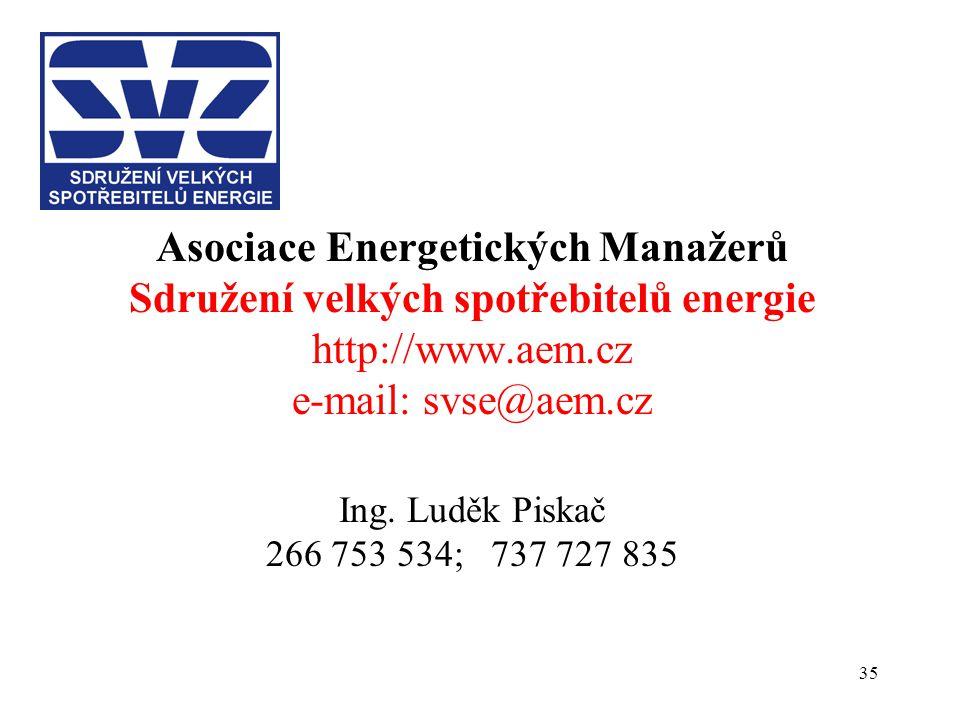 Asociace Energetických Manažerů Sdružení velkých spotřebitelů energie