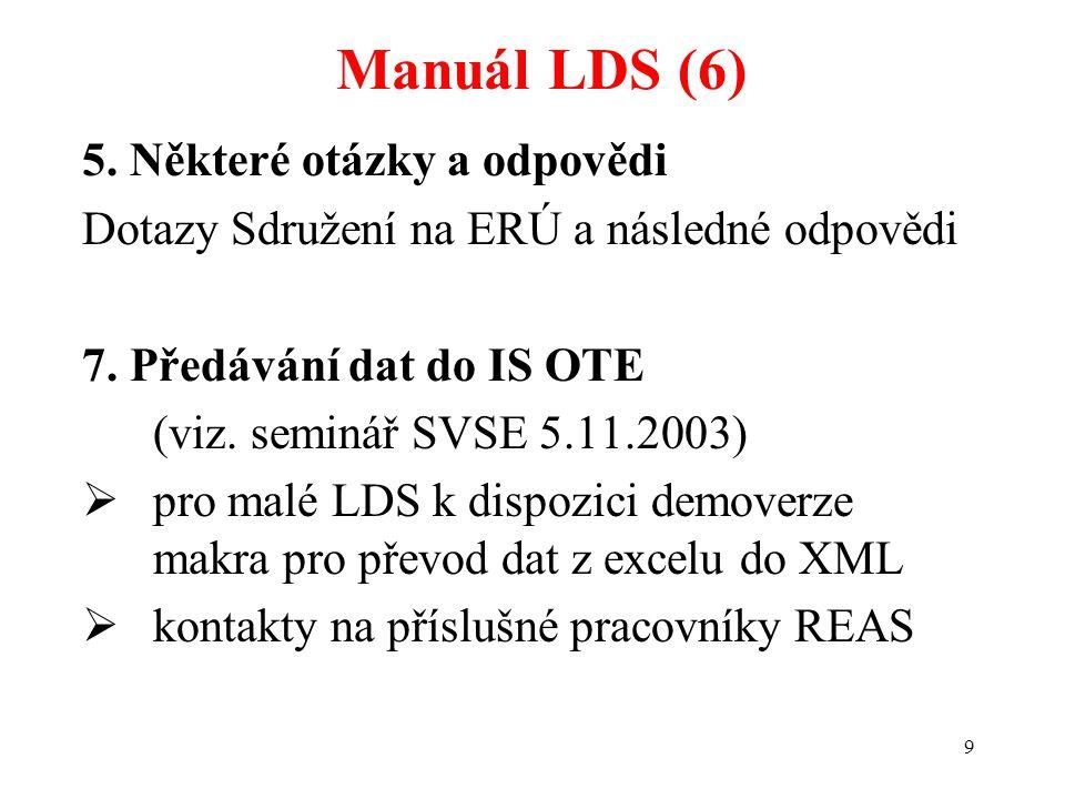 Manuál LDS (6) 5. Některé otázky a odpovědi