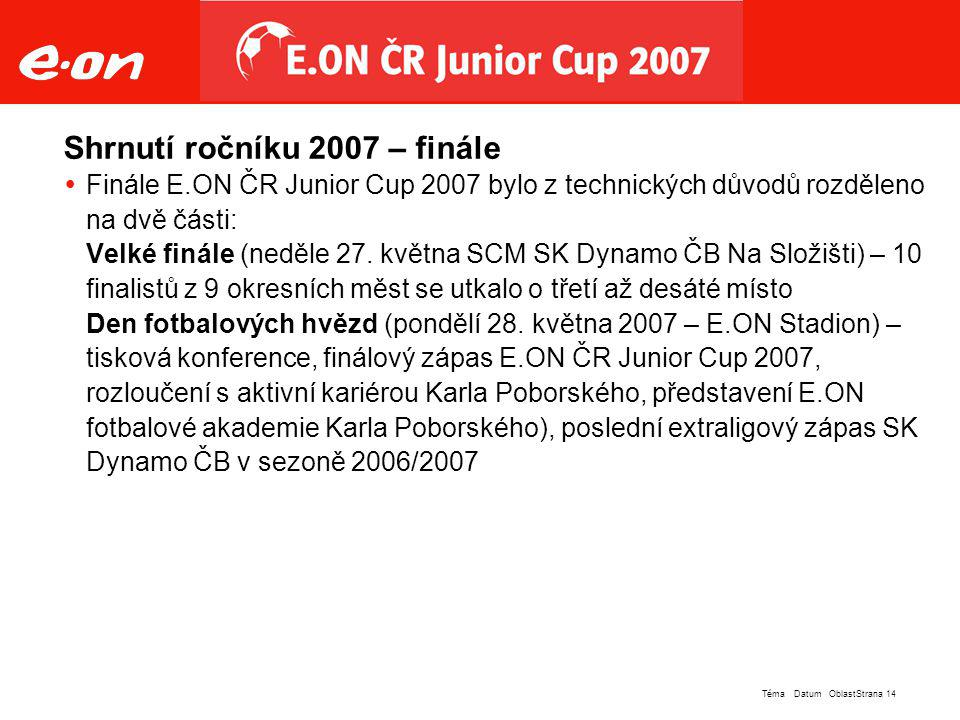 Shrnutí ročníku 2007 – finále