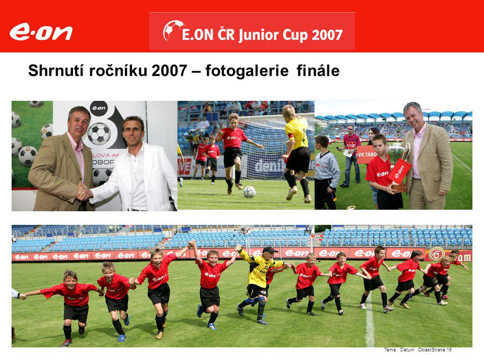 Shrnutí ročníku 2007 – fotogalerie finále