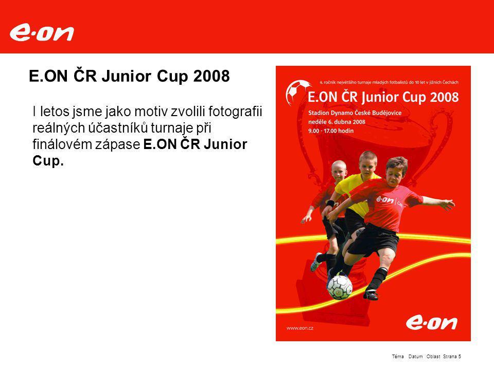 E.ON ČR Junior Cup 2008 I letos jsme jako motiv zvolili fotografii reálných účastníků turnaje při finálovém zápase E.ON ČR Junior Cup.