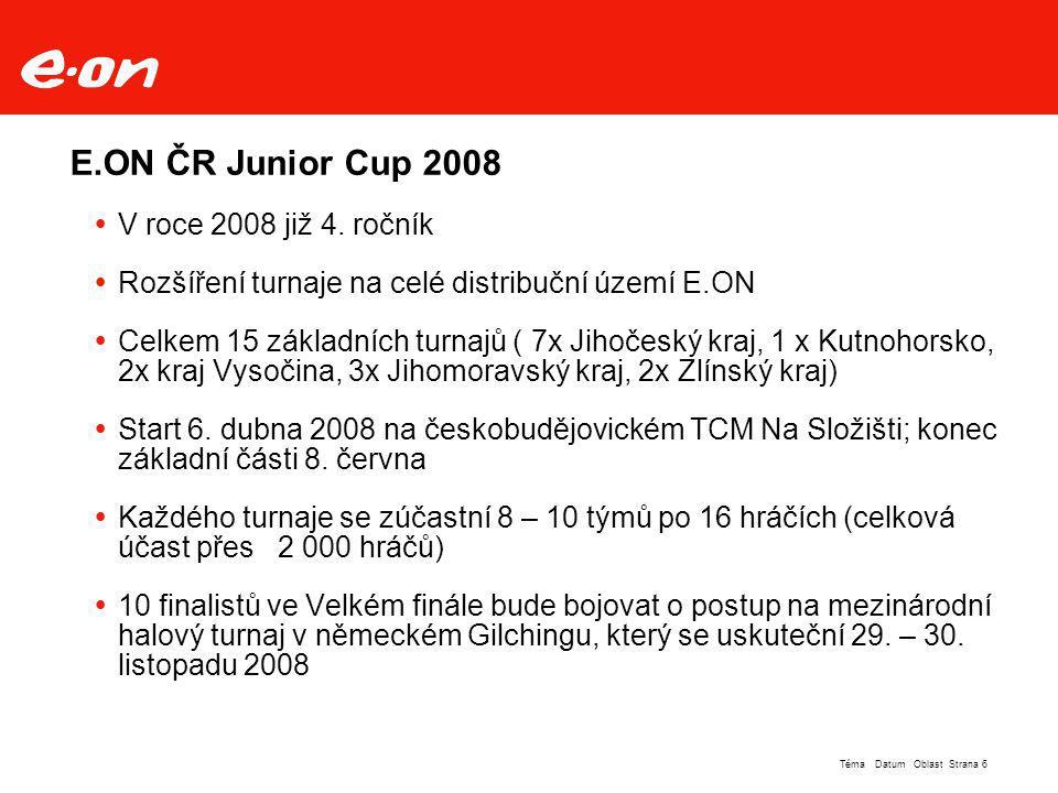 E.ON ČR Junior Cup 2008 V roce 2008 již 4. ročník