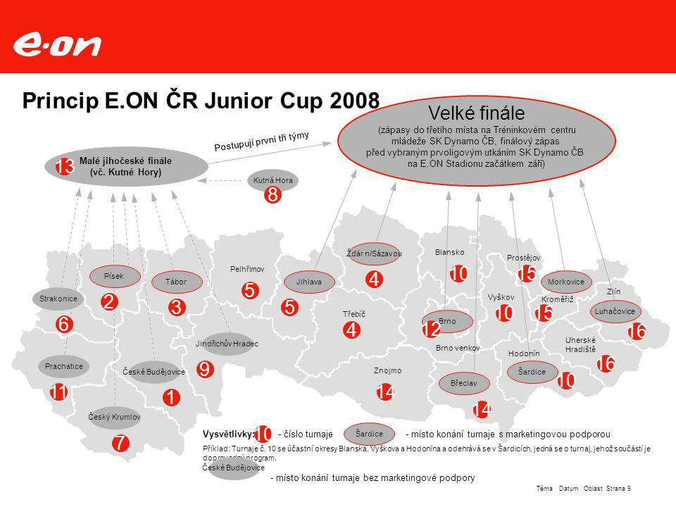 Princip E.ON ČR Junior Cup 2008