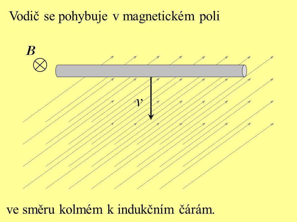 Vodič se pohybuje v magnetickém poli