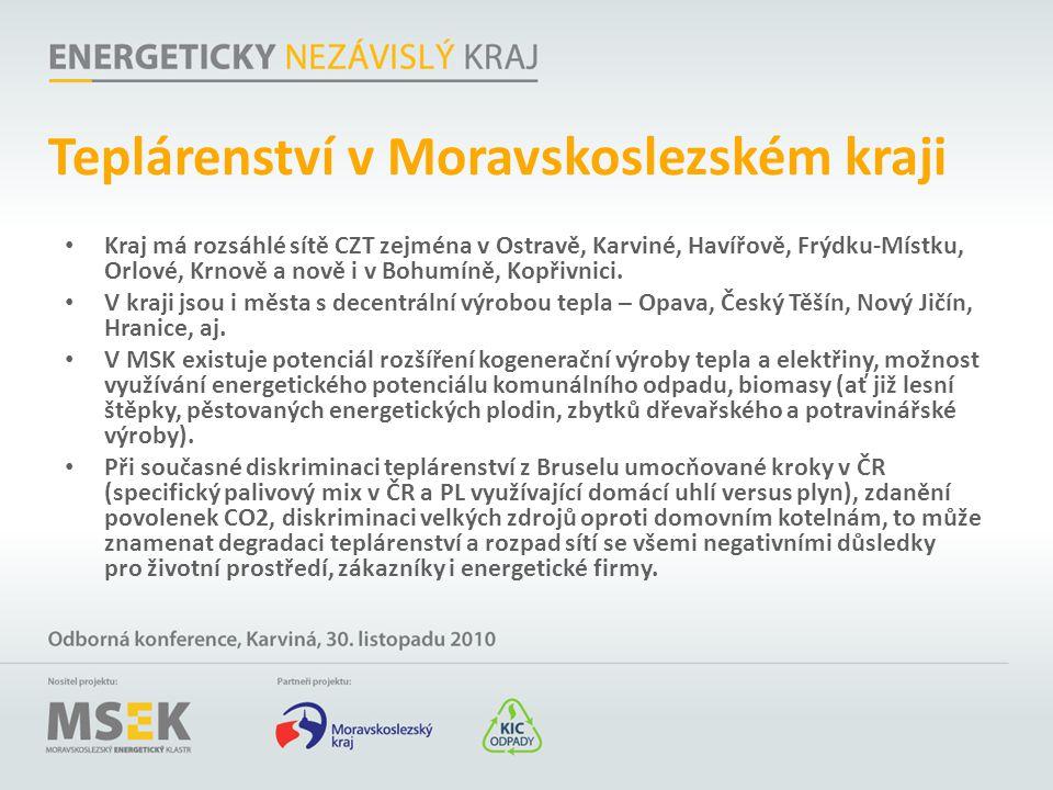 Teplárenství v Moravskoslezském kraji