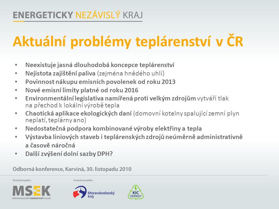Aktuální problémy teplárenství v ČR