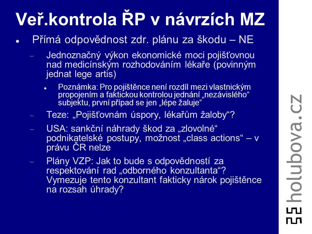Veř.kontrola ŘP v návrzích MZ
